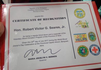PHO Recognizes Blood Program Efforts of Dolores, Mayor Seares and ILHZ